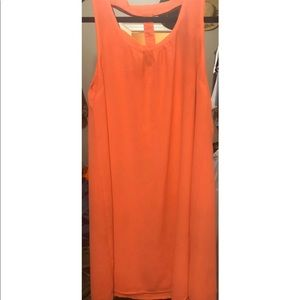 Umgee neon coral cut out dress